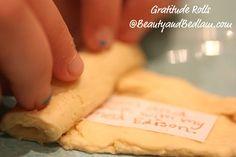 Thanksgiving Food Tradition -- Gratitude Rolls