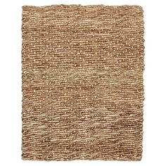 Kashmir Woven coir and jute rug with tucked ends. Handmade in India. 5 x 8 $221