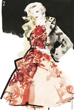 David Downton #illustration #fashion