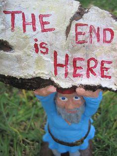 Zombie Gnomes  Doomsday Dan by ChrisandJanesPlace on Etsy, $21.00