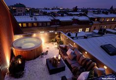 A lovely little terrace with a hot-tub.