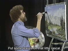 .. bobross, remember this, laugh, bobs, bob ross, funni, art, leav, quot