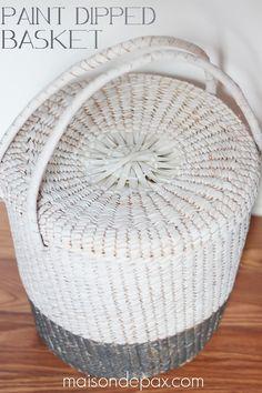 update an old basket with a fresh coat of paint via maisondepax.com #diy #decor #makeover