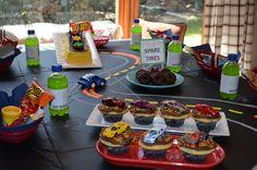 Super cute race car birthday party ideas
