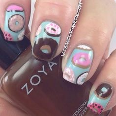 Lace and Lacquers: Nail Art Inspired by Kristin Nohe's Donuts on Blue