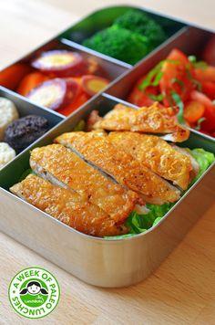 Paleo Lunchboxes- Cracklin Chicken with veggies