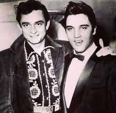 ON THIS DAY IN ROCK N ROLL September 9th, 1954: Elvis played at the opening of the Lamar-Airways Shopping Center in Memphis, Tennessee. Johnny Cash was in the audience and after the show met Elvis for the first time. Sun Studio