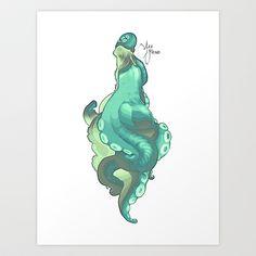 Sea Fiend Art Print by HYRenee - $15.00