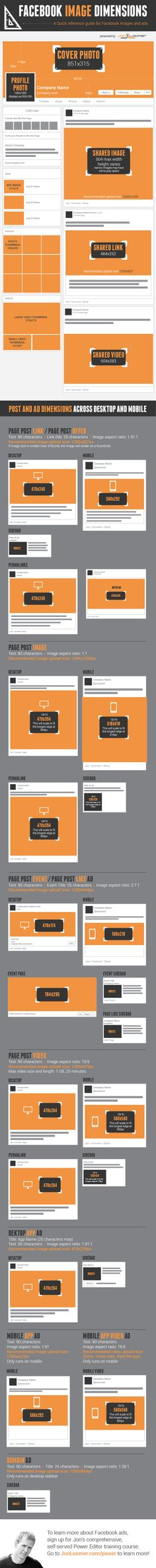 facebook image dimensions All Facebook Image Dimensions: Timeline, Posts, Ads [Infographic]