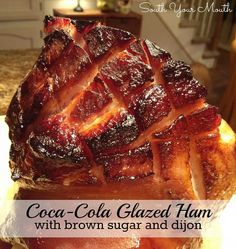 dinner, coca cola, cola glaze, hams, brown sugar, food, cocacola, recip, glaze ham