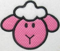 Lamb Animal Easter Applique Embroidery Design