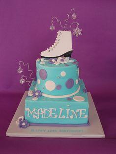birthday, ice skate, cake idea, skate cake, skate parti, ice skating, theme cake, skate theme, themed cakes