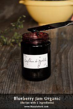 Blueberry Jam Organic {Recipe with 2 ingredients}