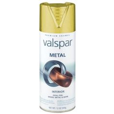 Valspar 12 Oz Gold Metal Spray Paint 465-66000 SP