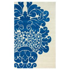 Hand-tufted wool rug with oversized damask motif.  $276 5' x 8'
