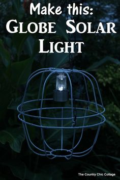 DIY Globe Solar Light with products from @oldtimepottery