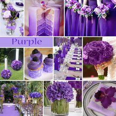 "Purple Wedding Color - Purple is one of those colors that makes us go ""wow""!    #exclusivelyweddings #purplewedding"