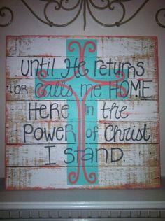 Wood Pallet Art Until He returns cross by HollysHobbiesTN on Etsy, $60.00