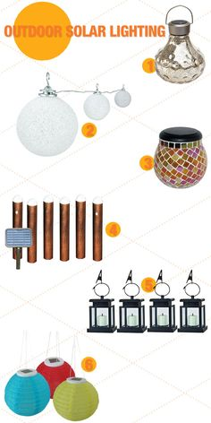 Look at all your options for solar lighting. Why not have a few sets on hand to change the look for different seasons.