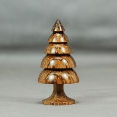 Wood Turning ZebraWood Christmas Tree