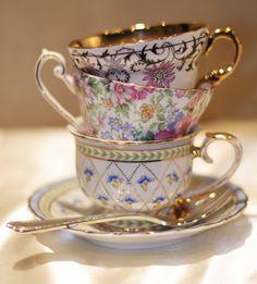tea time, cups, high tea, afternoon tea, hotel, tea cup, beauti cup, teacup, floral pattern