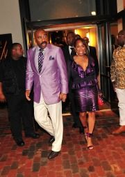 Steve Harvey and his wife