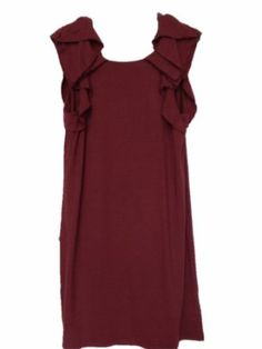 Juicy Couture Victorian Tuck Sleeve Dress - Size L - Burgundy / Wine Color With Awesome Back (refer pic 2) --- http://www.pinterest.com.welik.es/2gh