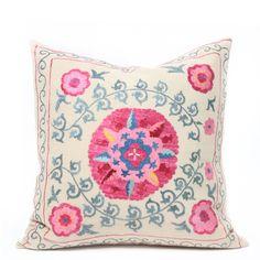 pretti pink, retail therapy, nail polish, suzani pillow, color combos, baby girl rooms, decorative pillows, color crush, throw pillows
