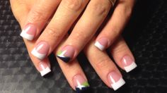 Seattle Seahawks accent nail.