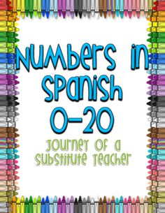 Journey of a Substitute Teacher: Spanish Numbers