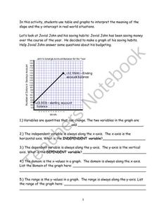 Jovial John and Rate of Change from Algebra for Everybody on TeachersNotebook.com -  (15 pages)  - Students take thorough tour of the rate of change and what look likes in various situations.