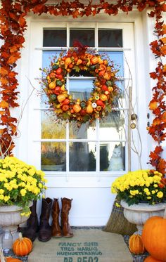 Fall Front Porch...that WREATH!