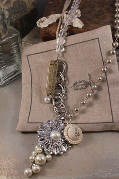 Crystal Flower Necklace by HaveFaithDesigns on Etsy
