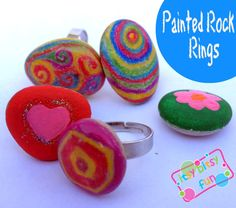 Easy Painted Rock Rings