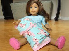 Poodle sleeping bag for American Girl doll