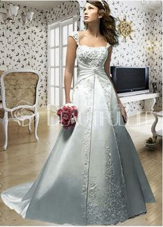 Silver Wedding Dress #weddings
