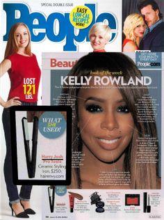 Love Kelly Rowland's shiny locks? Try the Harry JOsh Pro Tools Flat Iron!- People Magazine, Jan 13, 2014