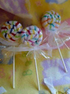 Striped Washcloth Lollipop