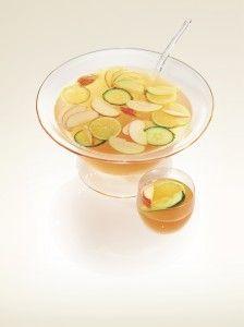 Caramel apple sangria with @Pinnacle Limerick Vodka's caramel apple vodka.