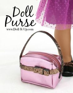 Make a doll purse out of a coin pouch