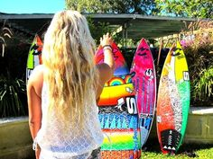 Neon surfboards.