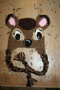 Bambi  crochet baby hat by OffTheHookbyAngie on Etsy, $18.00