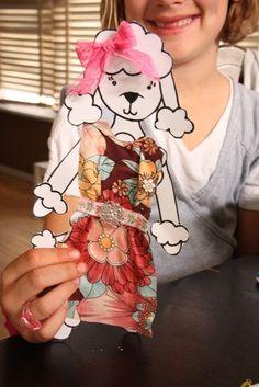 Tutorial: Fabric Scrap Paper Dolls