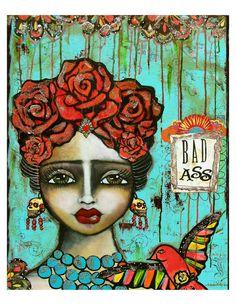 Frida Kahlo - Mexican Folk Art -