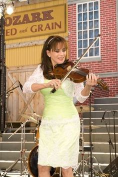 Louise Mandrell (I loved her on the Mandrell Sisters Show because she played violin like I did!)
