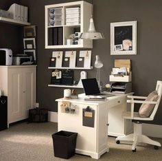 """Great Ideas to do with all our office wall space! """"Home Office Decorating Ideas 