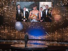 The First Lady wore a U.S.-made Naeem Khan dress to announce Best Picture at the 2013 Oscars.