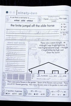 second grade common core morning work book