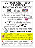 Kid Friendly Strategy Posters and Bookmarks!!! ----Phenomenal First Grade Phonics and Reading