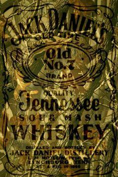 Jack Daniel's Camo Label